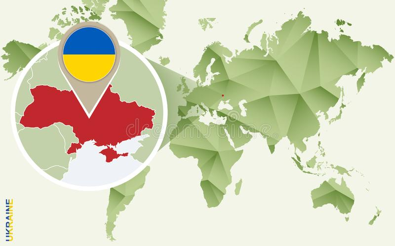 Infographic for Ukraine, detailed map of Ukraine with flag royalty free illustration
