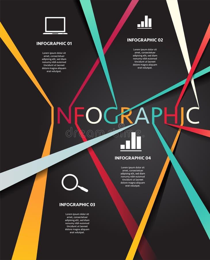 Infographic van zakenrelatielijn vector illustratie