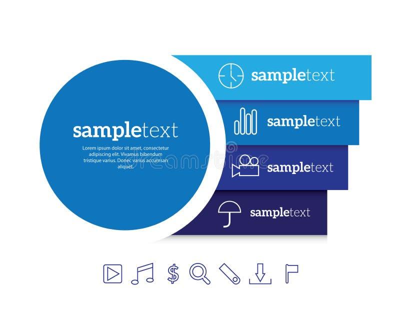 Infographic vector stock illustration