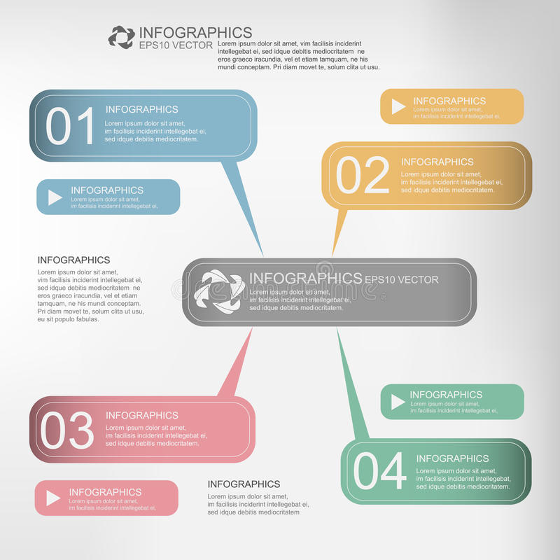 Infographic vektor stock illustrationer