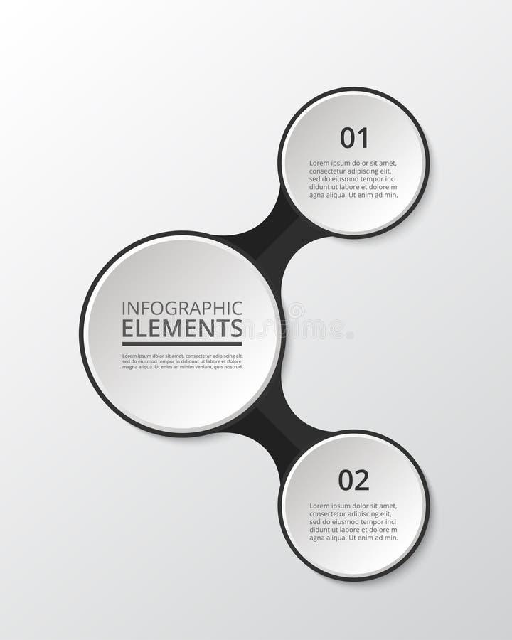 Infographic vektorcirkel stock illustrationer