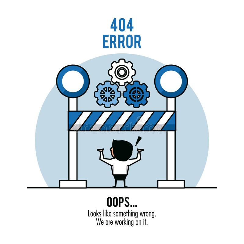 Infographic vektorillustration för fel 404 vektor illustrationer
