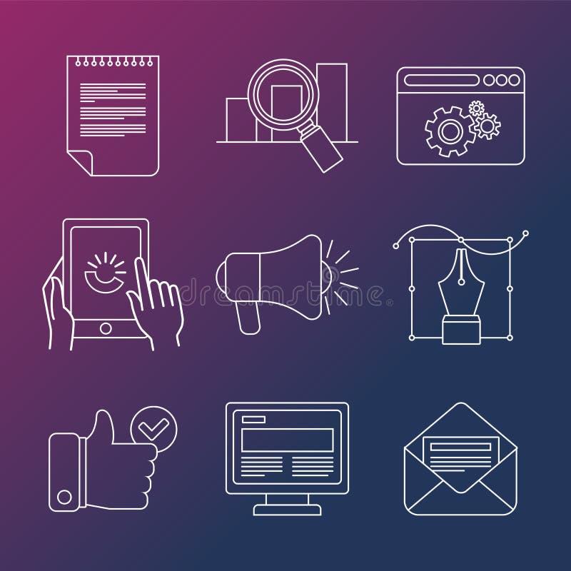 Infographic vektorinternetaffär stock illustrationer