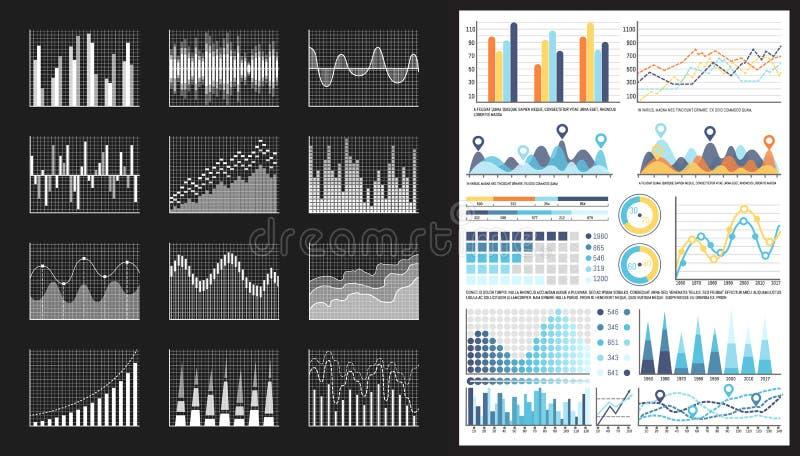 Infographic Visuele Vertegenwoordiging van Gegevensgrafiek royalty-vrije illustratie
