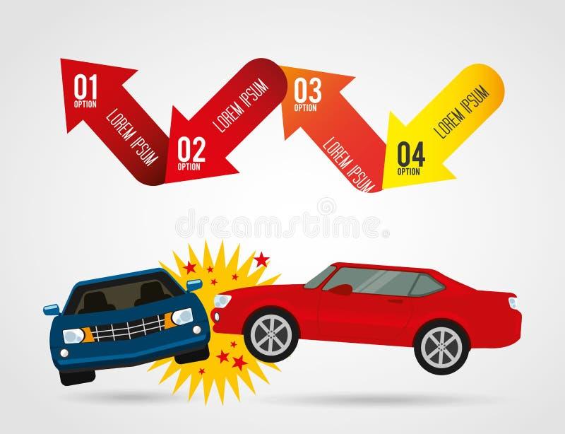 Infographic voertuig vector illustratie