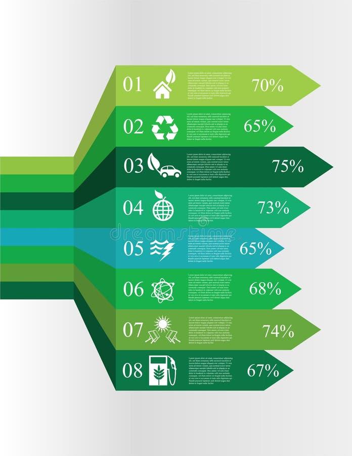 Infographic Wahlfahnen der Ökologie vektor abbildung