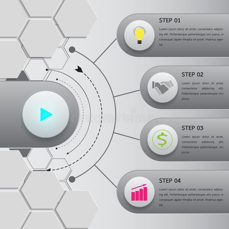 Infographic Wahlschablone des Knopfes lizenzfreie abbildung