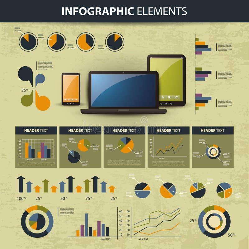 Infographic website elements vector illustration