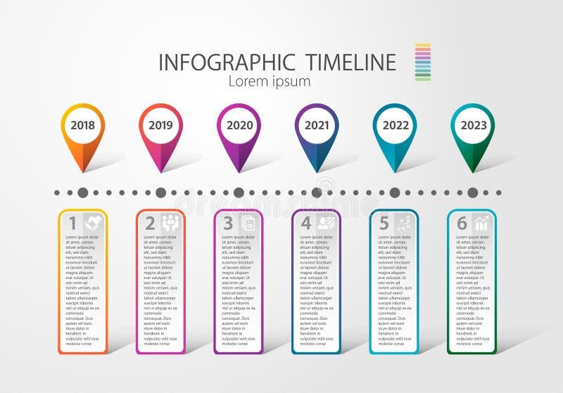 Infographic-Zeitachse zum mehrfachen Zweck des Gebrauches Wie Geschäft Plan, Prozesse, Schritt Quartery stockfotos