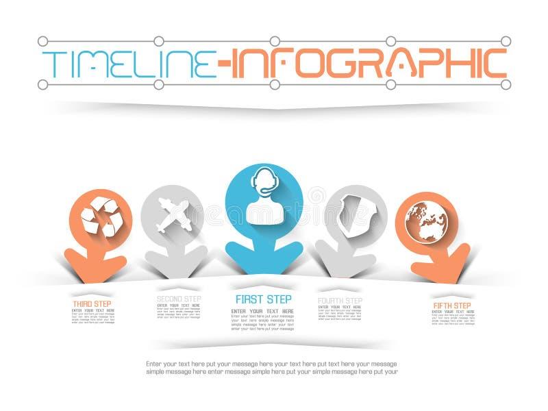 Infographic-Zeitachseelementdiagramm und -graphik lizenzfreie abbildung