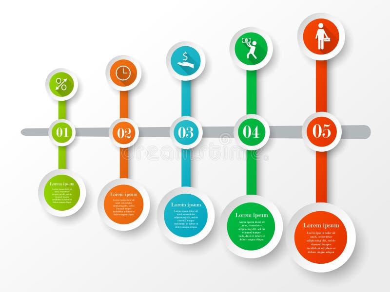 infographic Zeitachsekonzept vektor abbildung