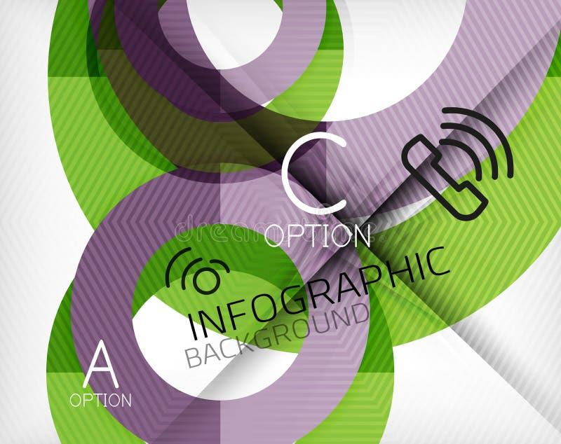 Infographic-Zusammenfassungshintergrund vektor abbildung