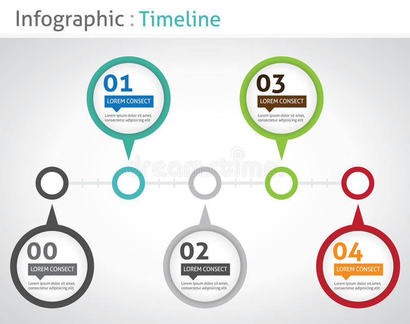Infographicchronologie royalty-vrije illustratie