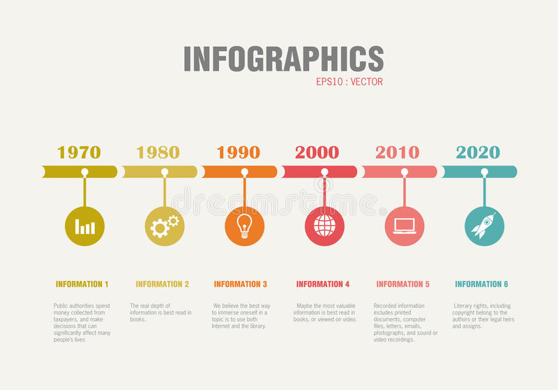 Infographicchronologie vector illustratie