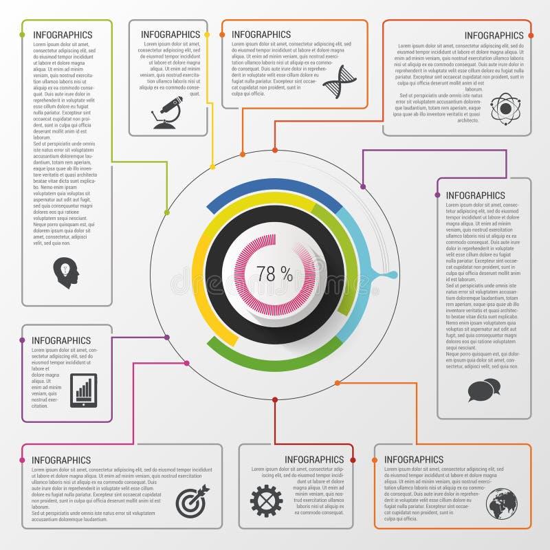 Infographiccirkel Modern vectorontwerpmalplaatje Bedrijfs concept Vector illustratie stock illustratie