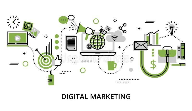 Infographicconcept met pictogrammen van online zaken, Internet-teken stock illustratie