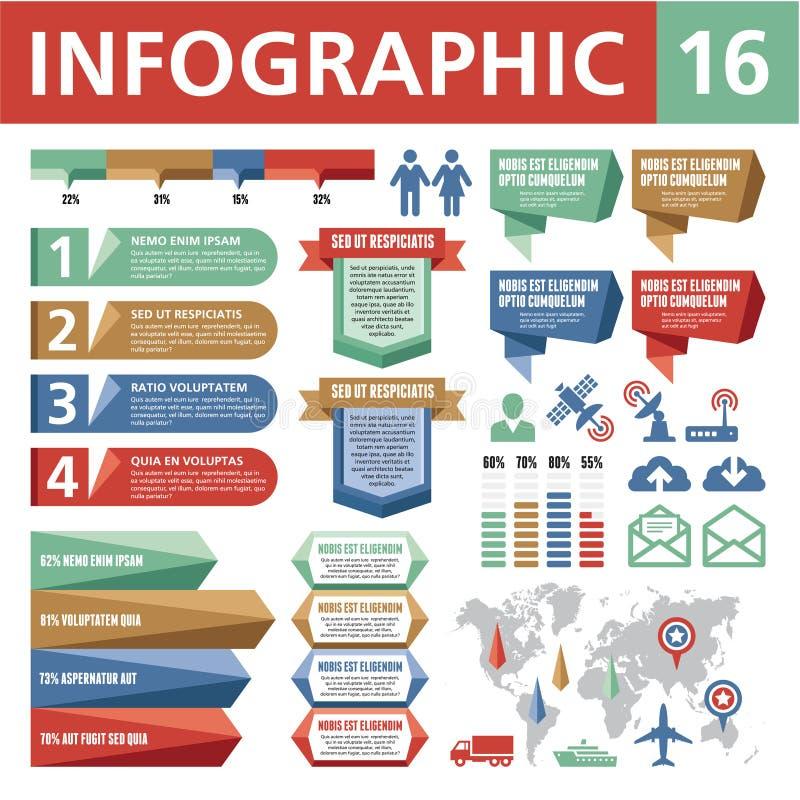 Infographicelementen 16 stock illustratie