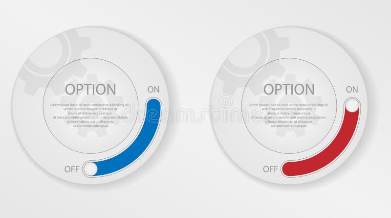 Infographicelementen, cirkel met opties vector illustratie