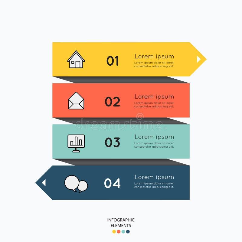 Infographicelementen met bedrijfspictogrammen op witte achtergrond royalty-vrije illustratie