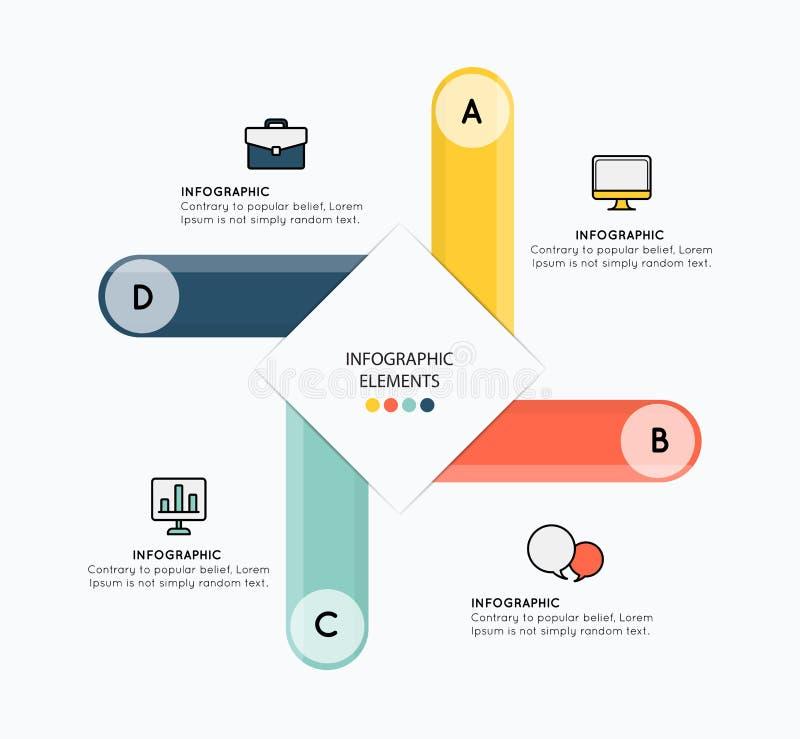 Infographicelementen met illustratieontwerp op witte backgroun stock illustratie