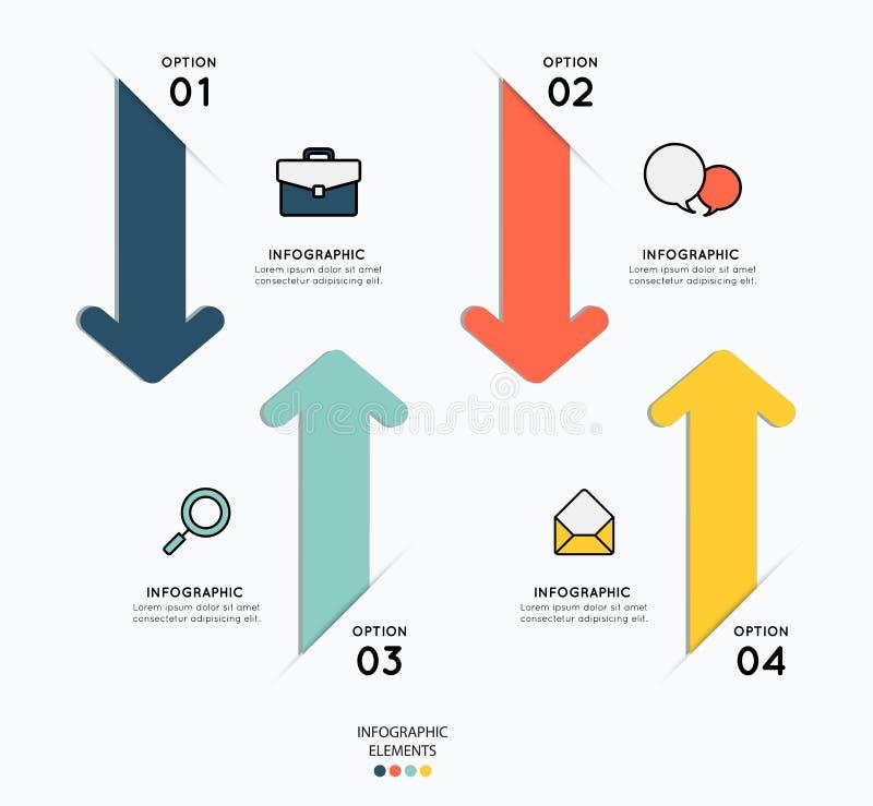 Infographicelementen met pictogrammen voor bedrijfsillustratie vector illustratie