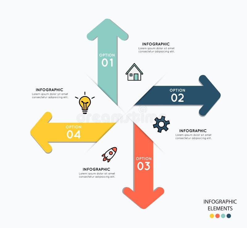 Infographicelementen met pictogrammen voor bedrijfsillustratie stock illustratie