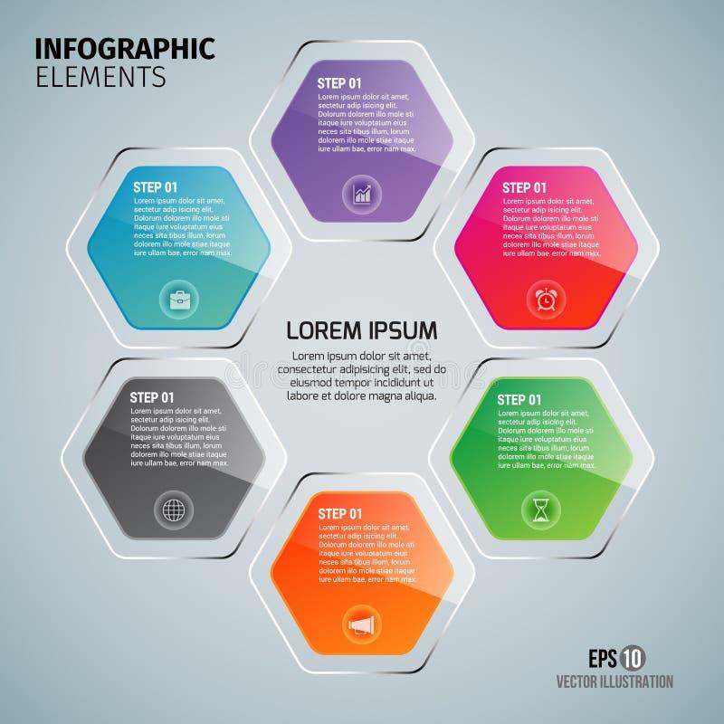 Infographicelementen voor Bedrijfs Vectorillustratie vector illustratie