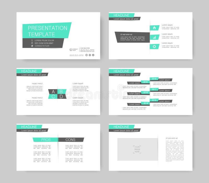 Infographicelementen voor presentatiemalplaatjes stock illustratie