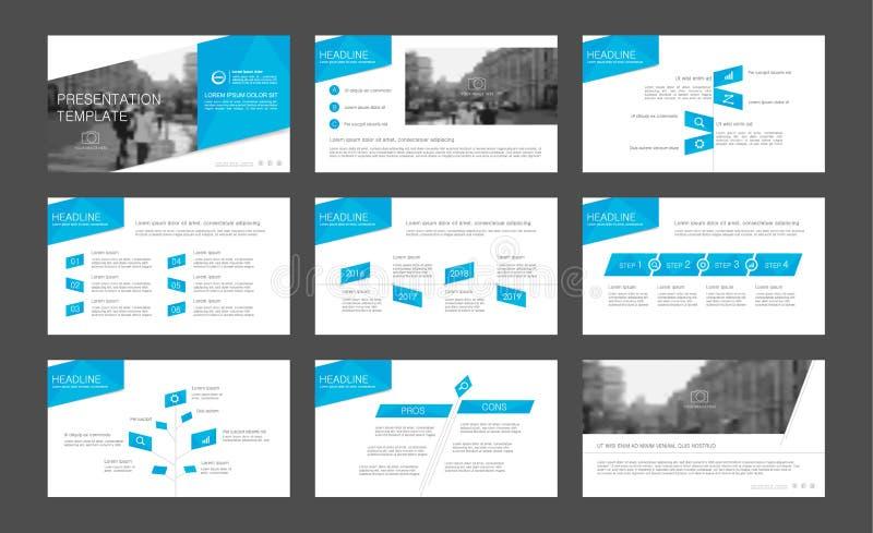 Infographicelementen voor presentatiemalplaatjes royalty-vrije illustratie