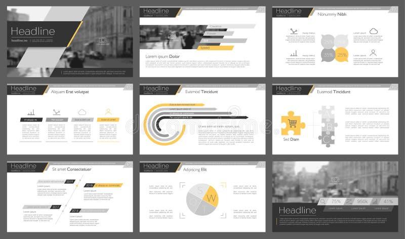 Infographicelementen voor presentatiemalplaatjes vector illustratie