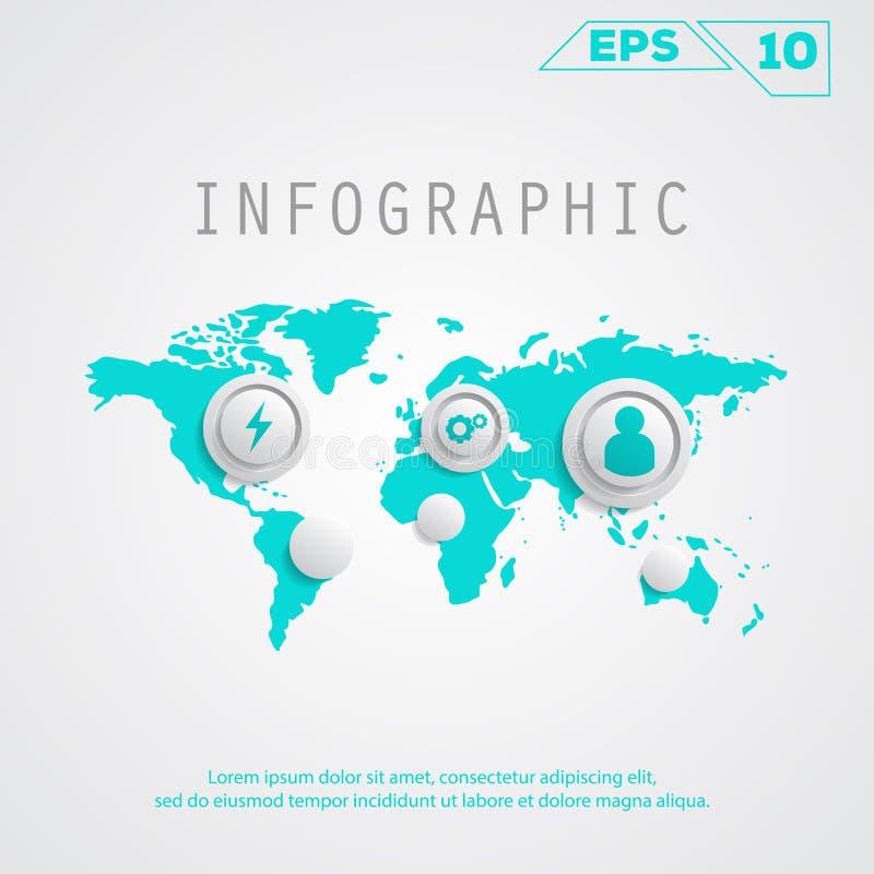 Infographickaart stock illustratie