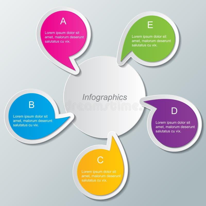 Infographicmalplaatje stock illustratie