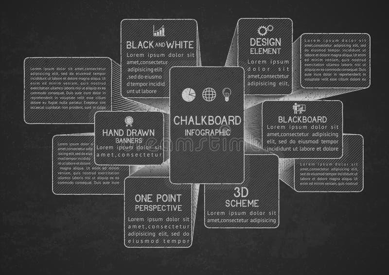 Infographicmalplaatje op bord vector illustratie