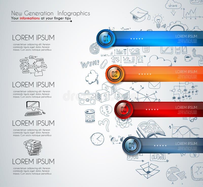 Infographicmalplaatje voor het moderne gegevens visualisatie en rangschikken stock illustratie
