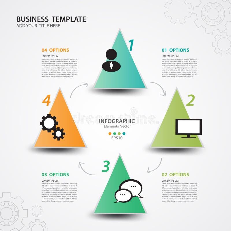 Infographicmalplaatjes voor Bedrijfs Vectorillustratie, banner, dia, presentatie, grafiek, grafiek, diagram, chronologievector stock illustratie