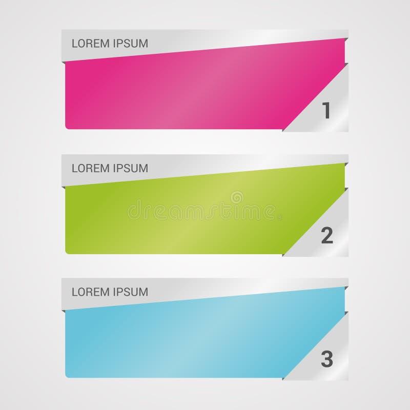 Infographicmalplaatjes voor Bedrijfsbannersvector vector illustratie