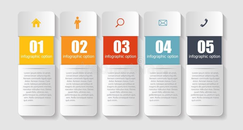 Infographicmalplaatjes voor Bedrijfsvector royalty-vrije illustratie
