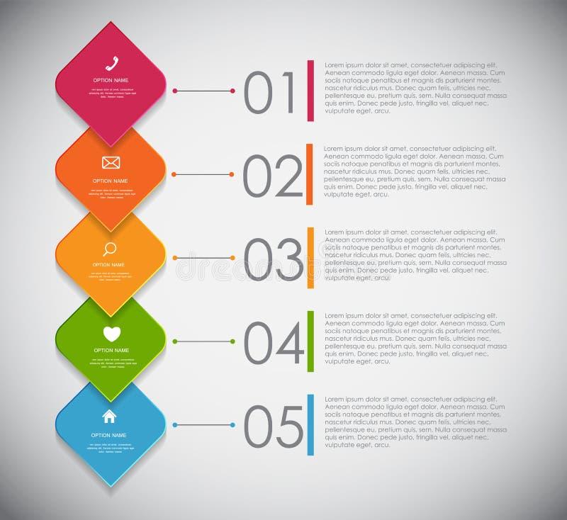 Infographicmalplaatjes voor Bedrijfsvector vector illustratie