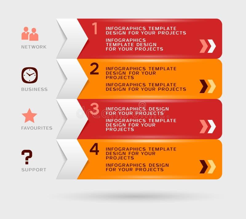 Infographicontwerp royalty-vrije illustratie