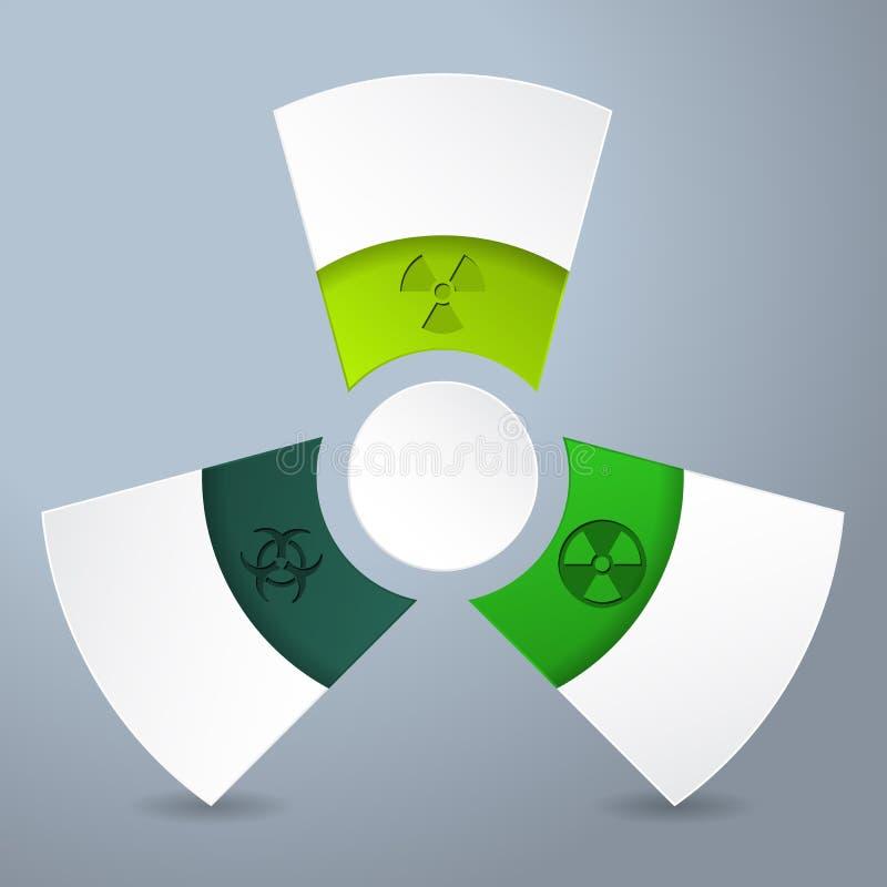 Infographicontwerp met biogevaaretiketten royalty-vrije illustratie