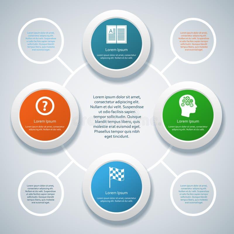Infographicontwerp op de grijze achtergrond vector illustratie