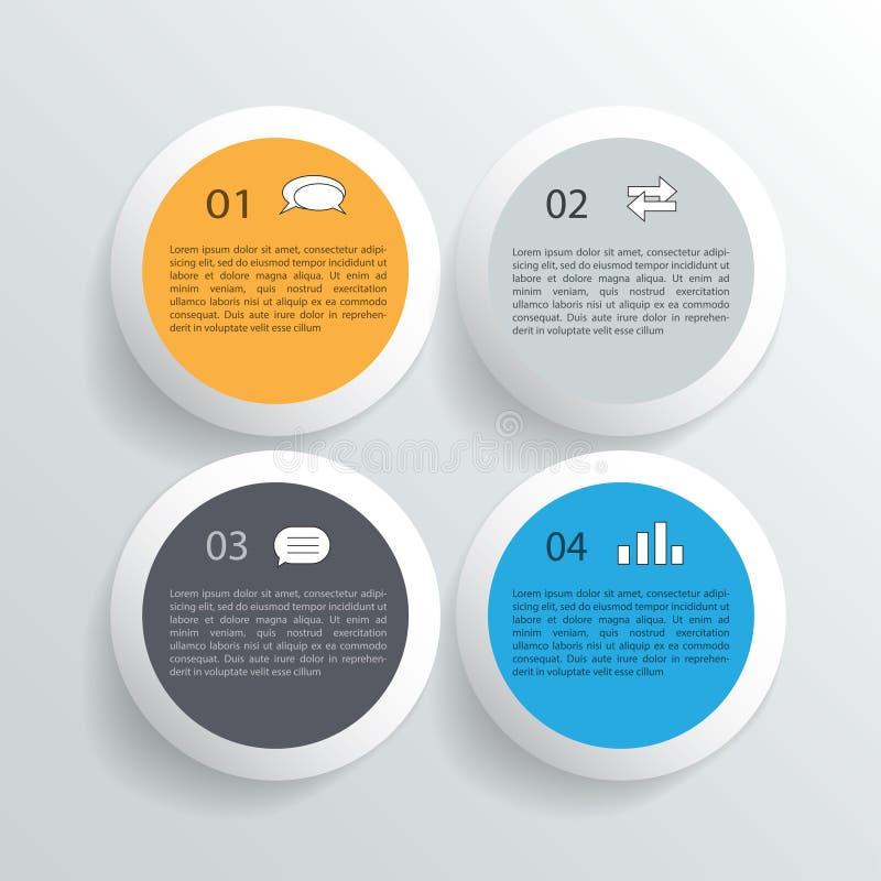 Infographicontwerp op de grijze achtergrond EPS 10 vectordossier stock illustratie
