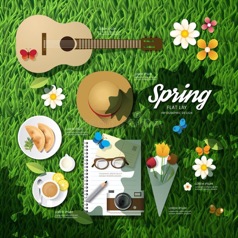 Infographicreis die een de lentevakantie plannen stock illustratie