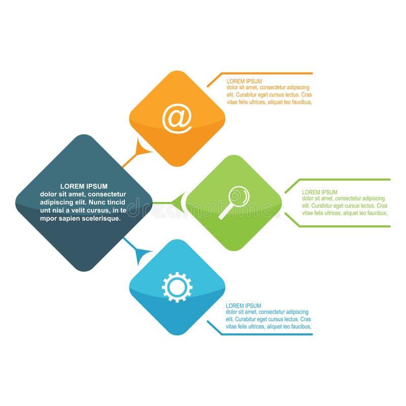 Infographics营销业务报告设计步选择模板 向量例证