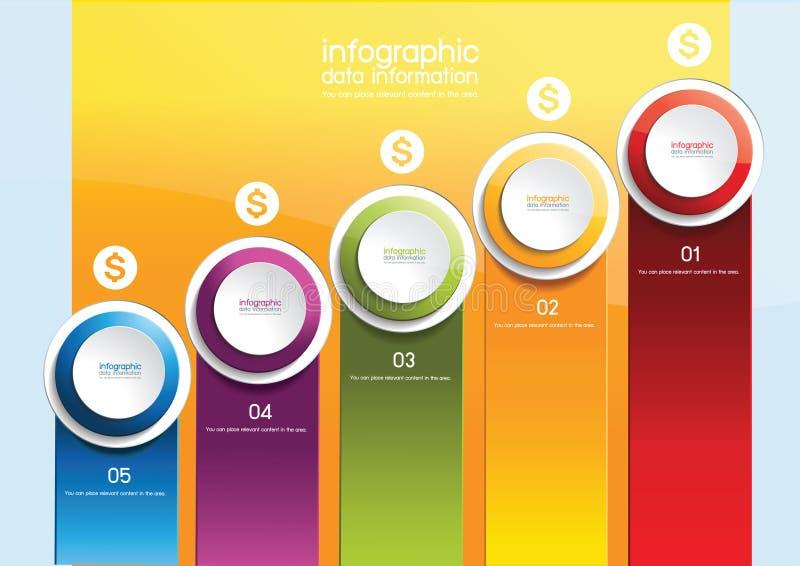 Infographics事务 皇族释放例证