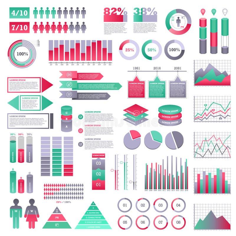 Infographics元素集 库存例证