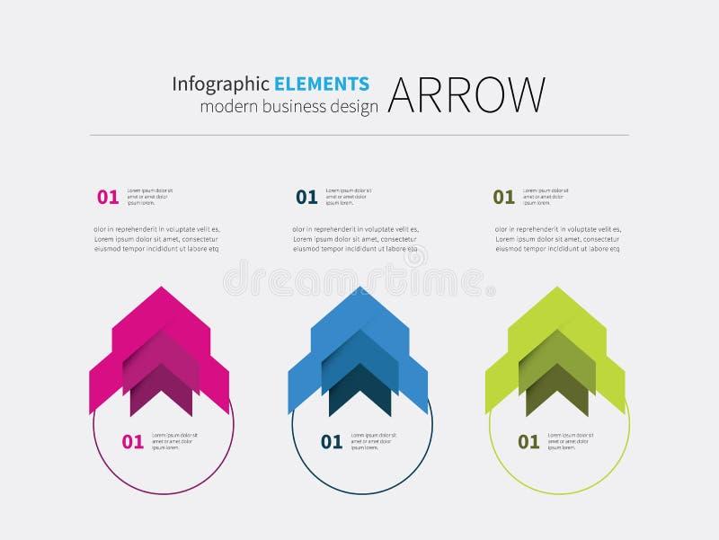 Infographics元素圈子 库存例证