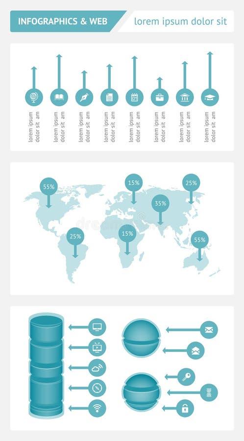 Infographics和网元素 免版税图库摄影
