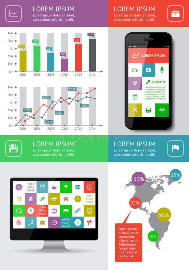 Infographics和网元素 库存照片