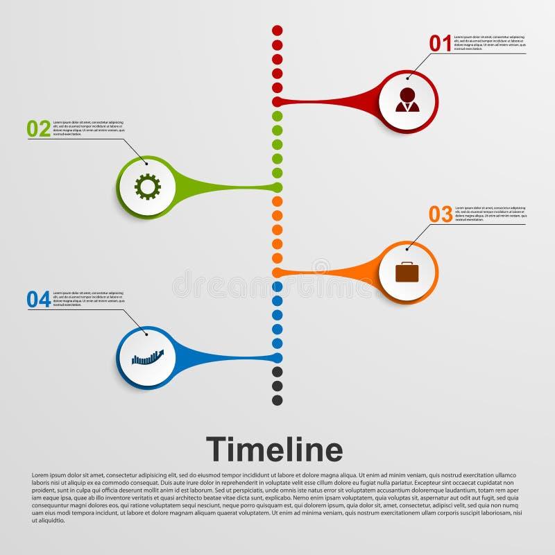 Infographics时间安排概念 背景设计要素空白四的雪花 皇族释放例证